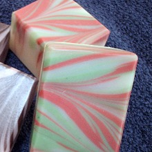 Brightly Colored Swirled Soap